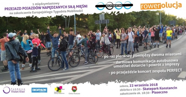 Nightskating & Rowerolucja – Konstancin-Piaseczno