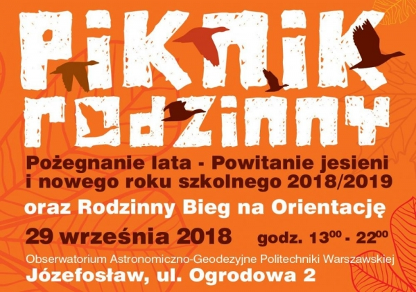 """Piknik rodzinny """"Pożegnanie lata – powitanie jesieni"""" w Józefosławiu"""