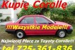 Kupię Toyotę Avensis I i II Yaris Corolle