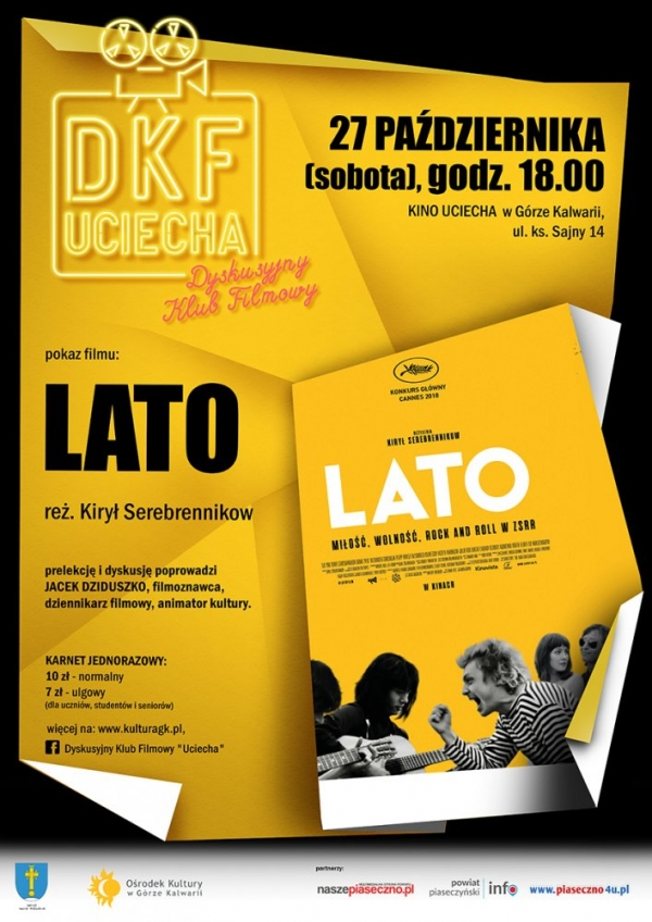 "DKF Uciecha: ""LATO"", reż. Kirył Serebrennikow"