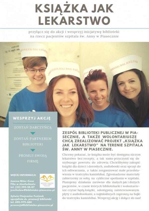 Książka jak lekarstwo - projekt biblioteki w Piasecznie