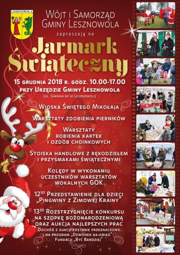 Świąteczny Jarmark w Lesznowoli