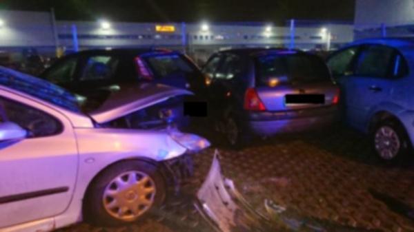 Pościg za sprawcą sześciu kolizji i wypadku drogowego
