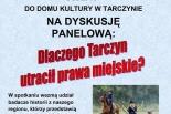 Dlaczego Tarczyn utracił prawa miejskie?