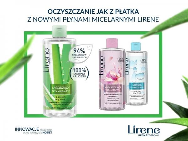 Oczyszczanie jak z płatka z nowymi płynami micelarnymi Lirene