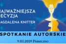 Magdalena Knitter - spotkanie autorskie w Piasecznie