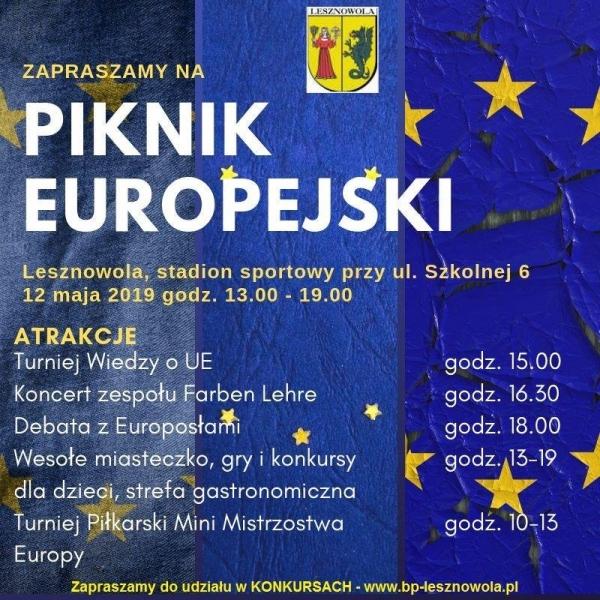 Piknik Europejki w Lesznowoli