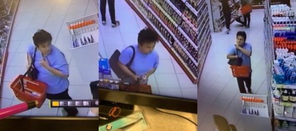 Wizerunek kobiety podejrzewanej o dokonanie kradzieży