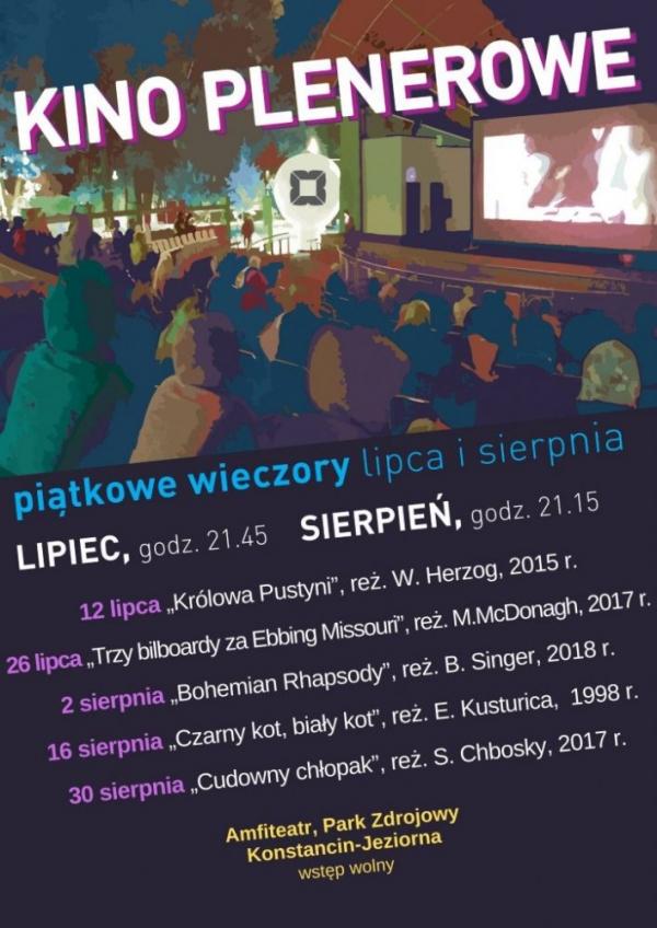 Kino plenerowe w Konstancinie