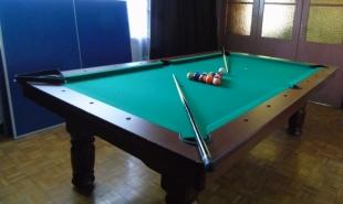 Stół do gry w bilarda Typ 8 ft wraz z blatem do ping-ponga.