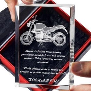 Podaruj ukochanemu kryształ3D z motocyklem!