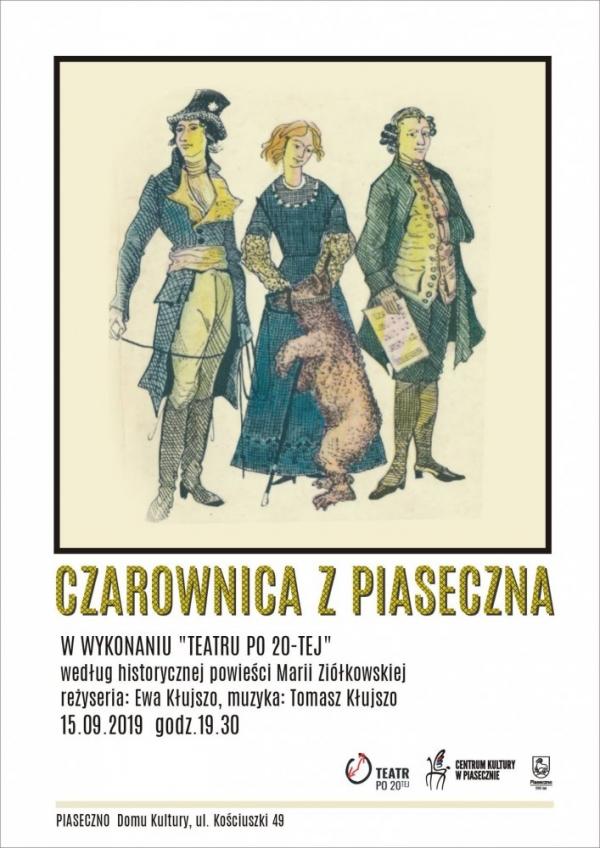 """Spektakl """"Czarownica z Piaseczna"""" w wykonaniu Teatru Po 20-tej w ramach Jarmarku Piaseczyńskiego"""