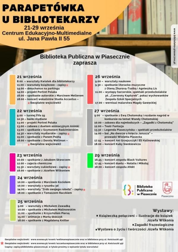 Parapetówka u bibliotekarzy – wydarzenia z okazji otwarcia biblioteki w CEM Piaseczno