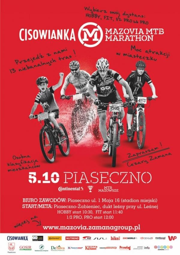 Rodzinny marathon rowerowy Cezarego Zamany w Piasecznie