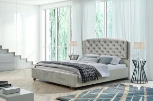 *Łóżko tapicerowane Laura 140x200 z materacem