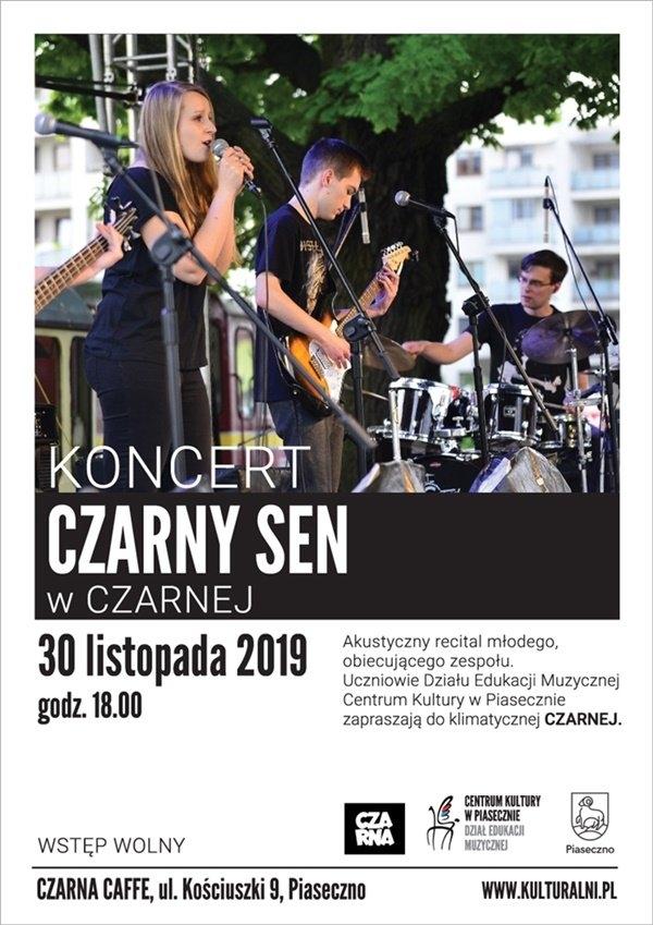 "Koncert Czarny Sen w ""Czarnej"""