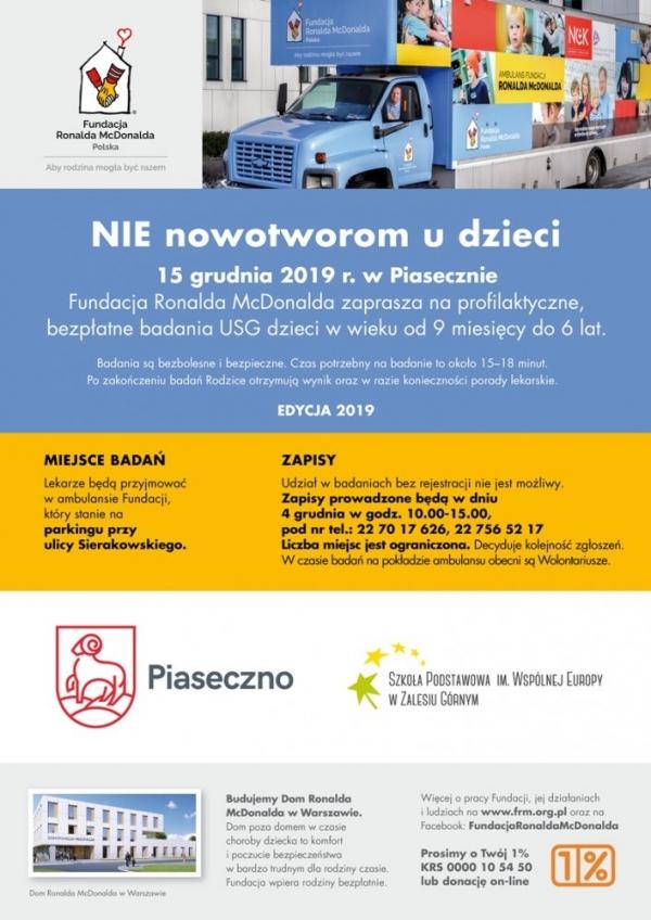 Bezpłatne badania USG dzieci w Piasecznie