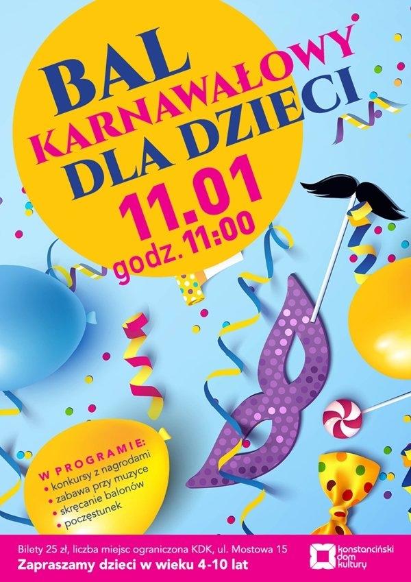 Karnawałowa Hugonówka dla dzieci