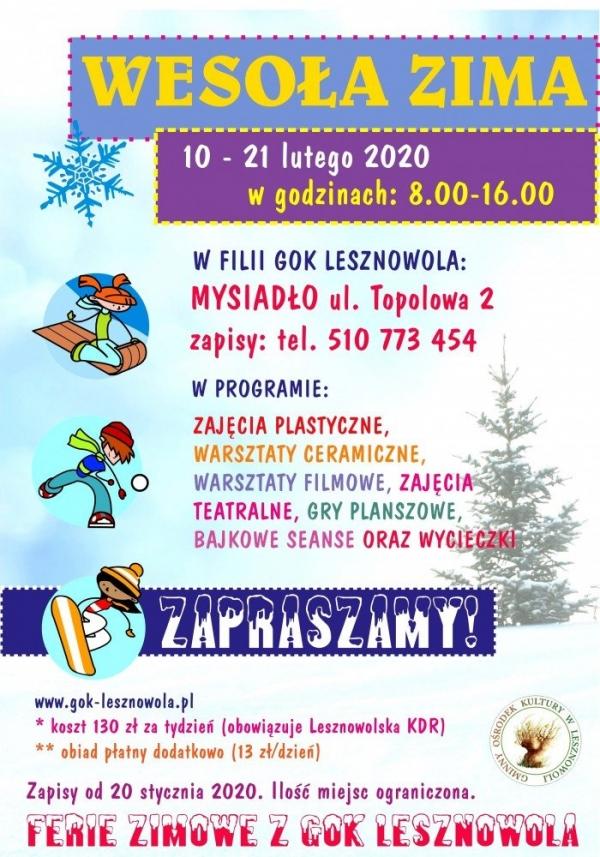 Wesoła Zima 2020 w Lesznowoli