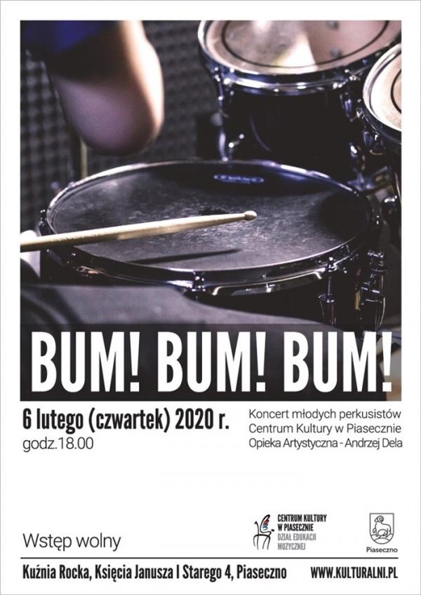 BUM! BUM! BUM! koncert młodych perkusistów Centrum Kultury