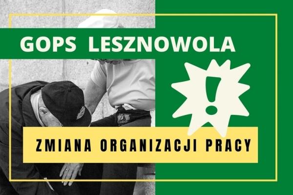 Komunikat GOPS Lesznowola