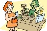 Kasjerka do sklepu spożywczego