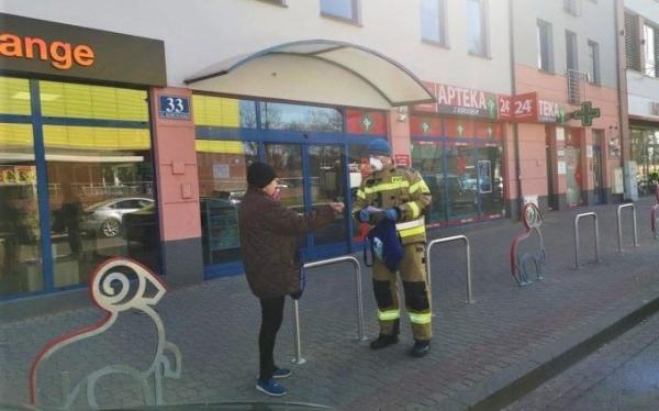 Gmina Piaseczno rozdaje maseczki