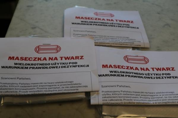 Dystrybucja maseczek wielokrotnego użytku na terenie gminy Piaseczno