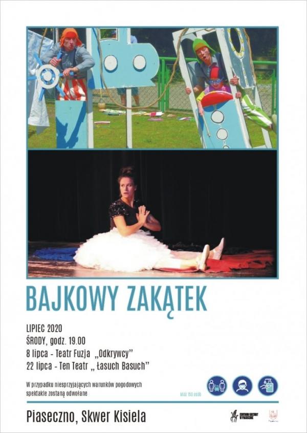 Teatr Fuzja Odkrywcy – Bajkowy Zakątek skwer Kisiela Piaseczno