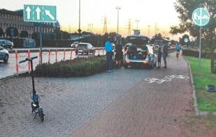 Wypadek na ścieżce rowerowej