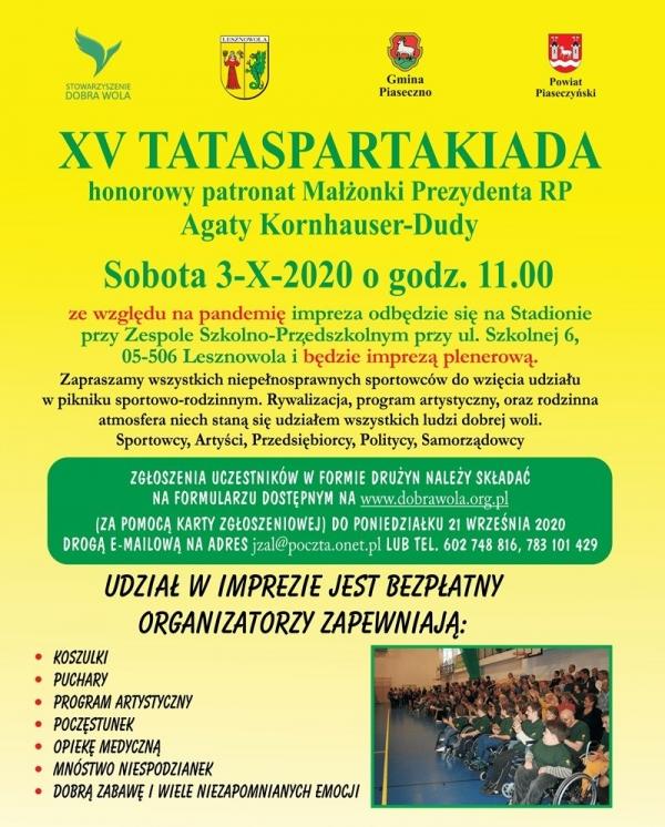 XV TATASPARTAKIADA