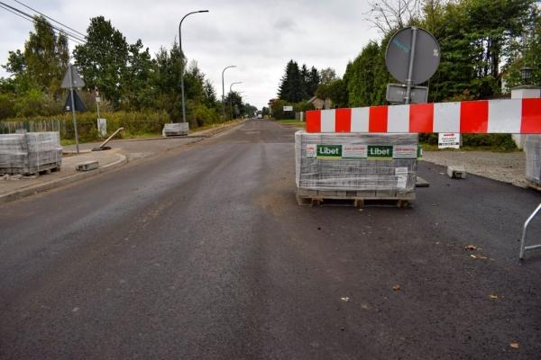 Zamknięcie ulicy Mazowieckiej w Bobrowcu