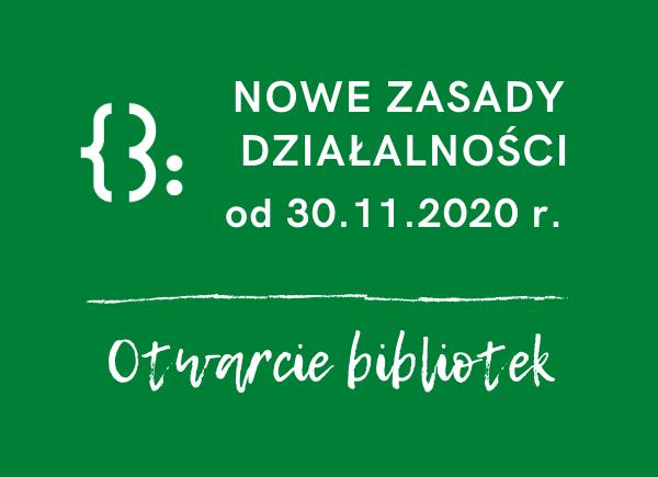 30 listopada otwieramy biblioteki