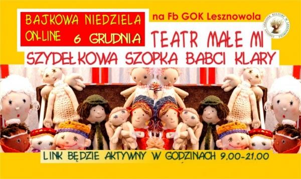 Bajkowa Niedziela - wirtualnie z GOK Lesznowola