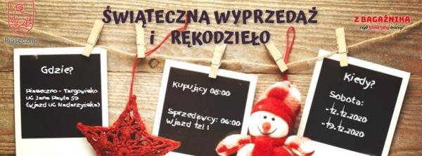 Świąteczna wyprzedaż na targowisku w Piasecznie w SOBOTY
