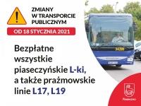 Od 18 stycznia linie L17 i L19 bezpłatne dla posiadaczy Karty Mieszkańca