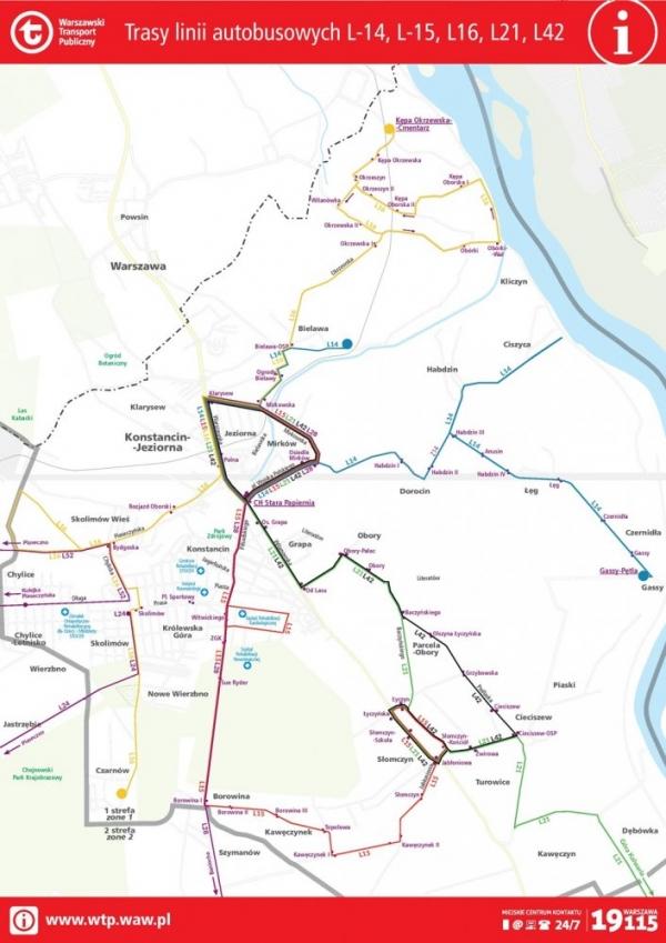 """Autobusy linii """"L"""" w Konstancinie-Jeziornie wracają na swoje trasy"""
