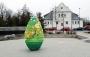 Wielkanocne ozdoby na skwerze Kisiela w Piasecznie
