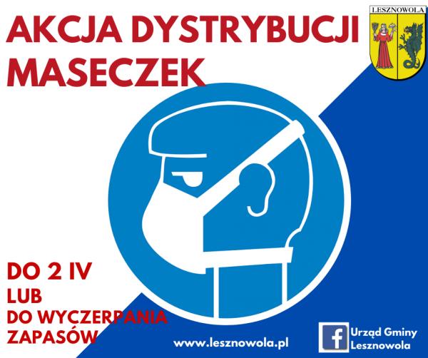 Bezpłatne maseczki dla Mieszkańców gminy Lesznowola