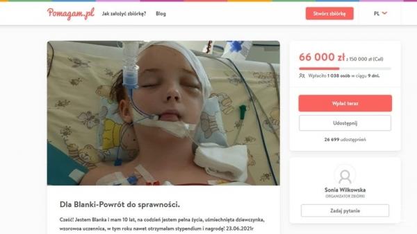 Pomóż Blance Tomaszewskiej, wesprzyj internetową zbiórkę
