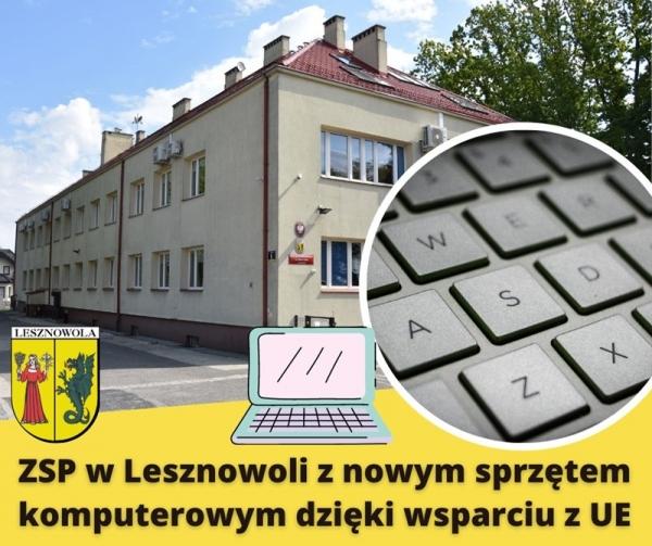 ZSP w Lesznowoli z nowym sprzętem komputerowym!